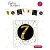 """Festive numbers """"7"""" 3 stuks"""
