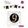 """Festive numbers """"9"""" 3 stuks"""