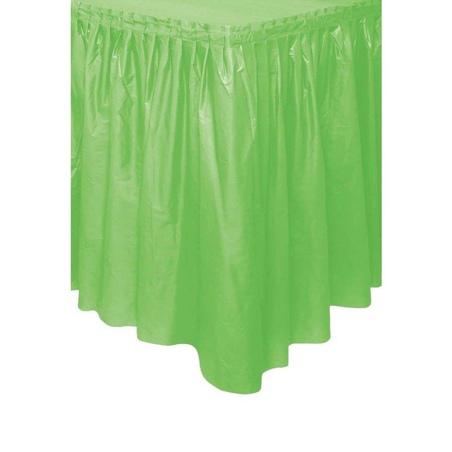 Tafelrok Lime Groen - 74 x 426 cm-1