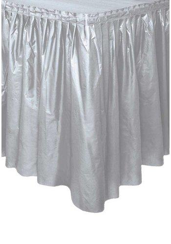 Tafelrok Zilver - 73 x 426 cm