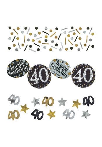 Confetti 40 Sparkling Celebration Silver&Black - 34 g