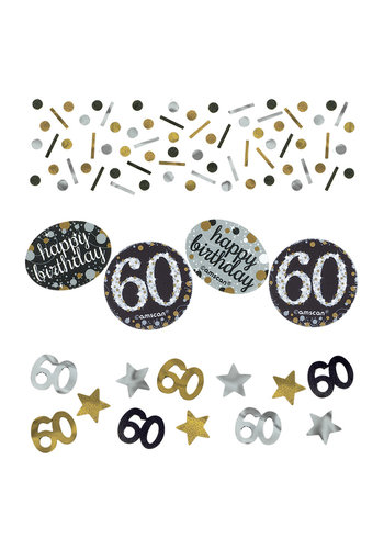 Confetti 60 Sparkling Celebration Silver&Black - 34 g
