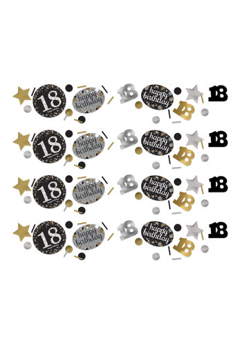 Confetti 18 Sparkling Celebration Silver&Black - 34 g