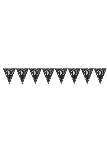Vlaggenlijn 30 Sparkling Celebration Silver&Black - 396,2 x 21,5 cm
