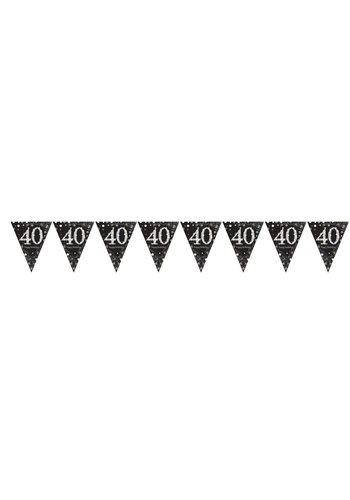 Vlaggenlijn 40 Sparkling Celebration Silver&Black - 396,2 x 21,5 cm