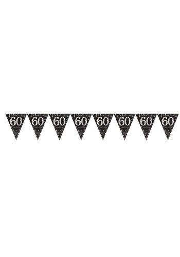 Vlaggenlijn 60 Sparkling Celebration Silver&Black - 396,2 x 21,5 cm