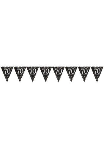 Vlaggenlijn 70 Sparkling Celebration Silver&Black - 396,2 x 21,5 cm