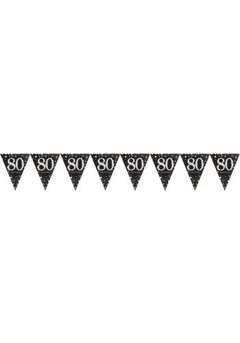 Vlaggenlijn 80 Sparkling Celebration Silver&Black - 396,2 x 21,5 cm