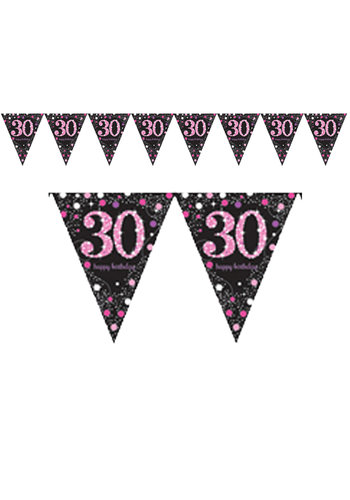 Vlaggenlijn 30 Sparkling Celebration Pink&Black - 396,2 x 21,5 cm