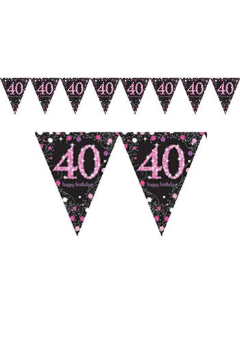 Vlaggenlijn 40 Sparkling Celebration Pink&Black - 396,2 x 21,5 cm