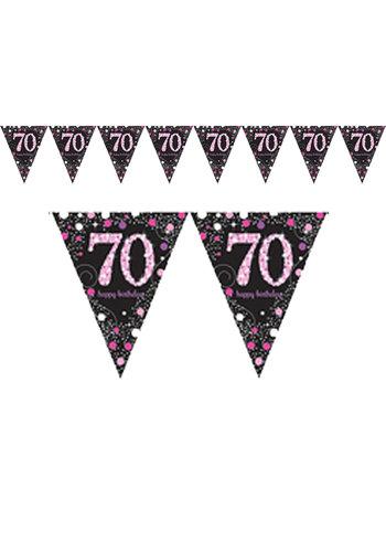 Vlaggenlijn 70 Sparkling Celebration Pink&Black - 396,2 x 21,5 cm