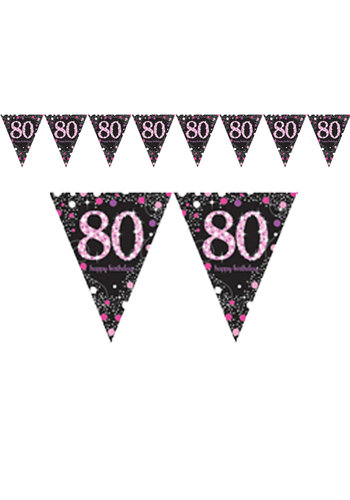 Vlaggenlijn 80 Sparkling Celebration Pink&Black - 396,2 x 21,5 cm