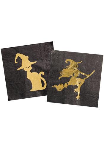 Servetten Golden Witch - 20 stuks