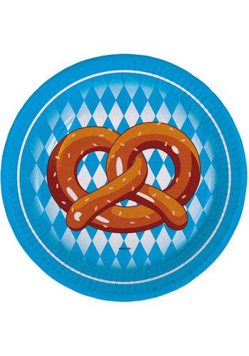 Bordjes Oktoberfest - 18cm - 8 stuks