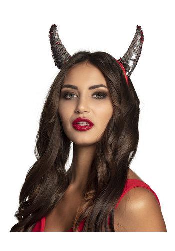 Tiara Devil switch - omkeerbaar rood/zilver