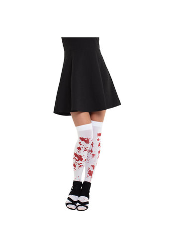 Kousen Stay-up Stockings Wit met Bloed