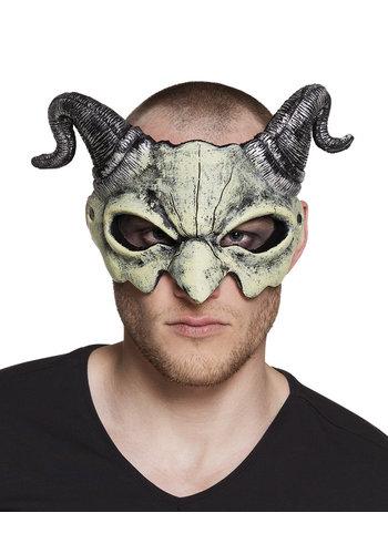 Foam halfmasker Duivel schedel