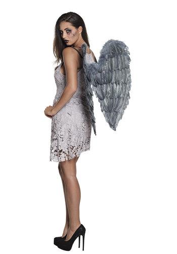 Fallen angel vleugels gevouwen - 65x65cm