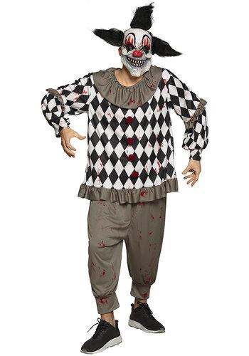 Volwassenenkostuum Scary clown - M/L
