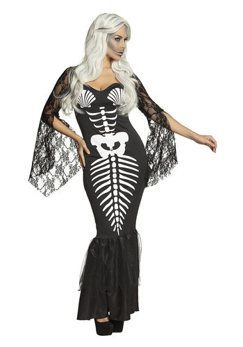Volwassenenkostuum Skeleton mermaid