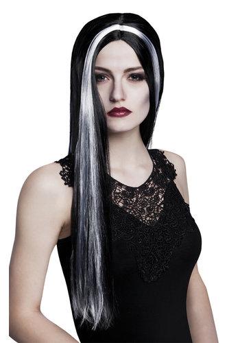 Pruik Heks Aurora zwart