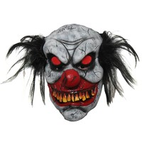 Masker Zombie clown met lichtgevende ogen