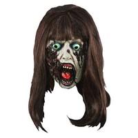 Masker Zombie lady met bruin haar