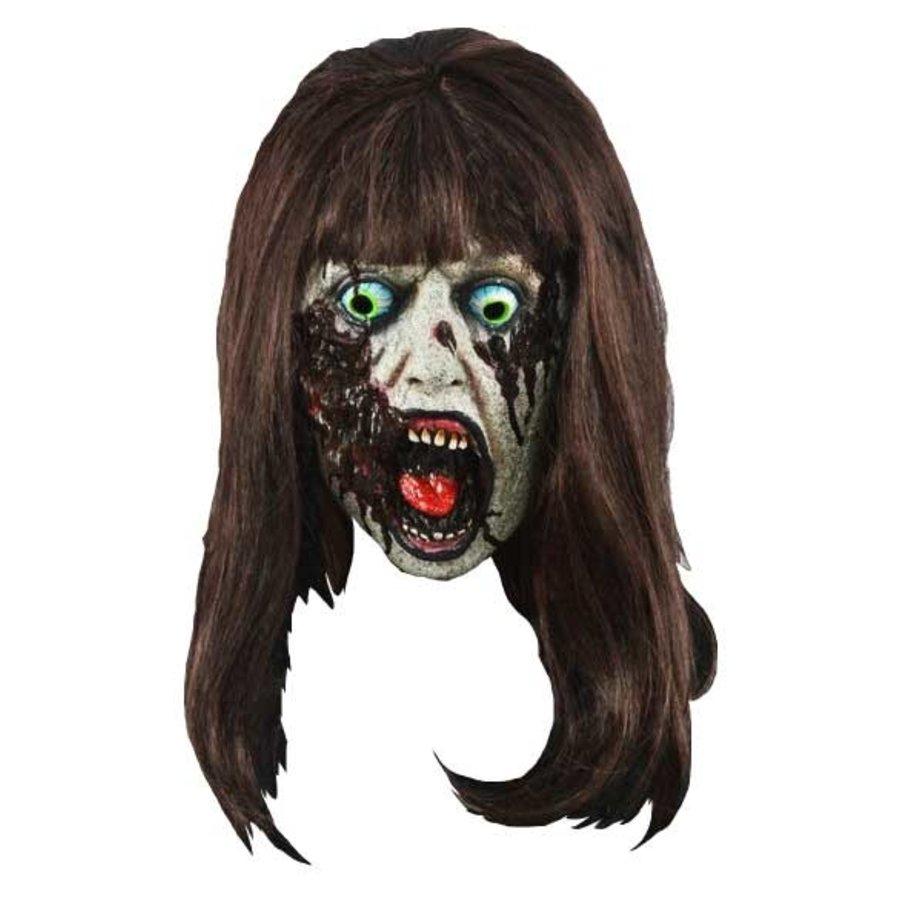 Masker Zombie lady met bruin haar-1
