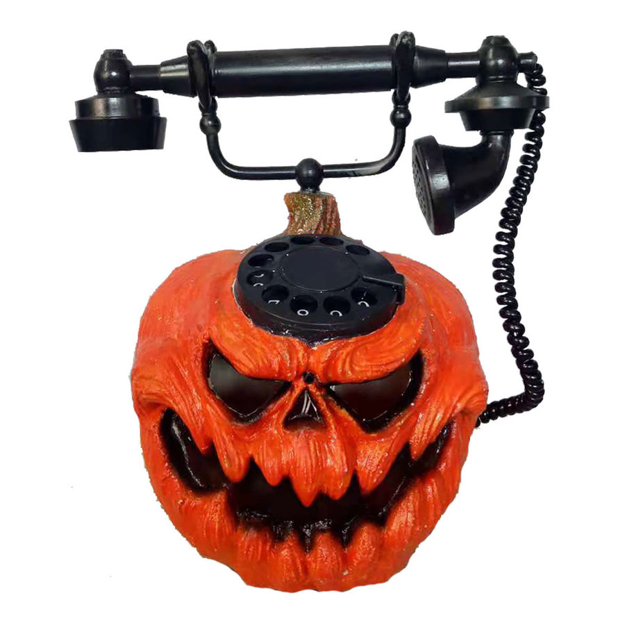 Horror Pompoen Telefoon - 28cm-1