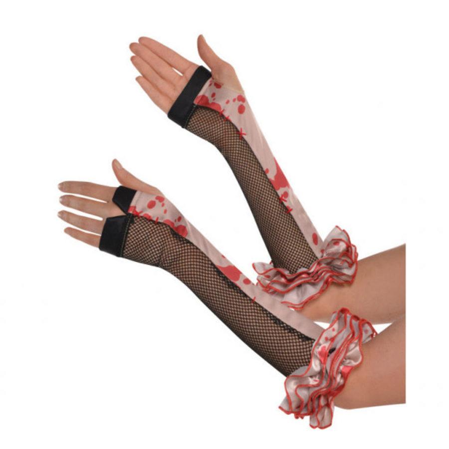 Freakshow Handschoenen met bloed-1