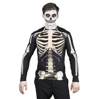 thumb-Fotorealistisch shirt Skeleton - XL-1