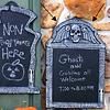 Tombstone Chalk Board - 57 x 39 cm