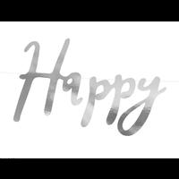 thumb-LetterBanner Happy Birthday - Zilver-5