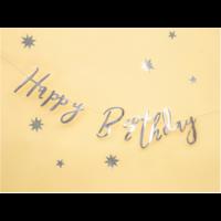 thumb-LetterBanner Happy Birthday - Zilver-3