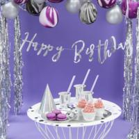 thumb-LetterBanner Happy Birthday - Zilver-1