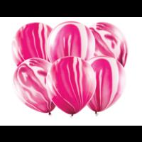 Marmeren ballonnen Roze - 30cm