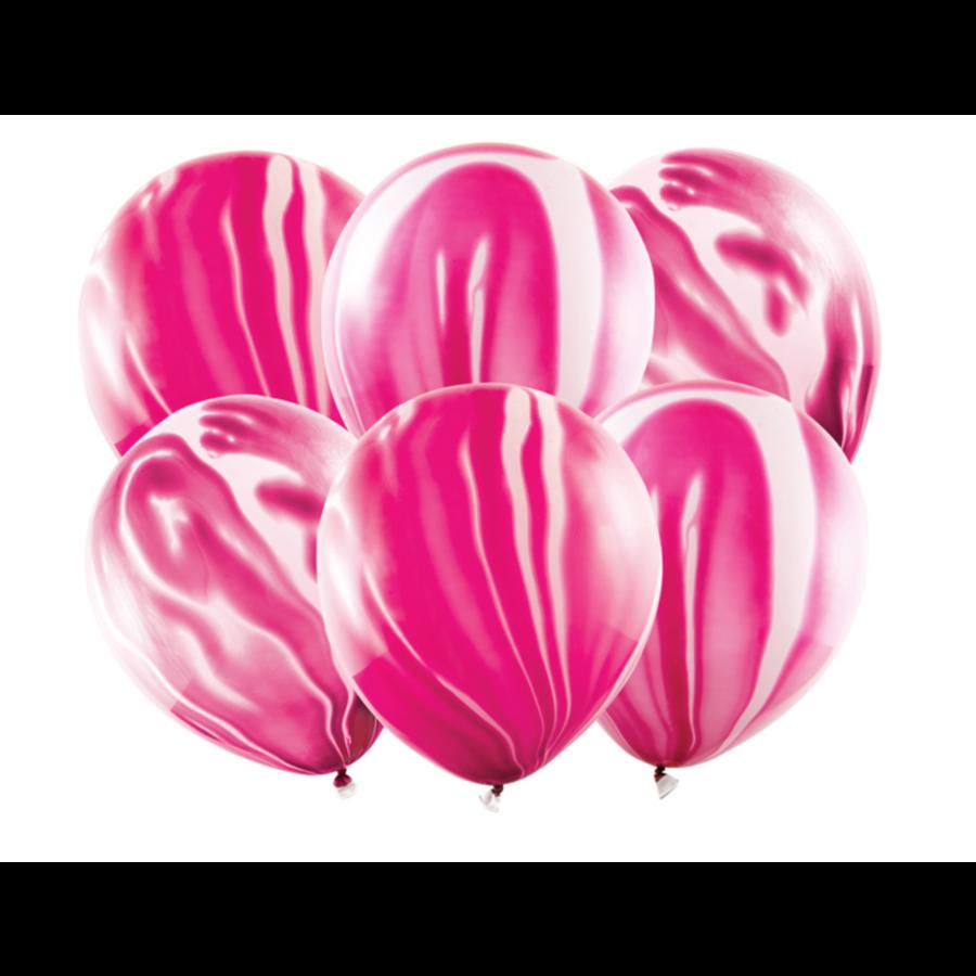 Marmeren ballonnen Roze - 30cm-1