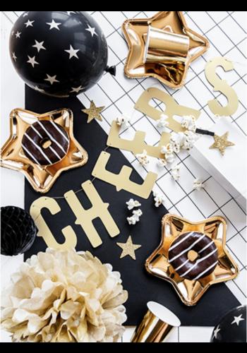Decoratie sterren glitter goud - 5 cm - 8 st