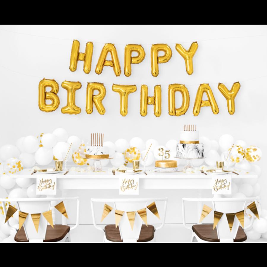 Servetten Happy Birthday - 33x33cm - 20 stuks-2