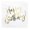 Servetten Happy Birthday - 33x33cm - 20 stuks