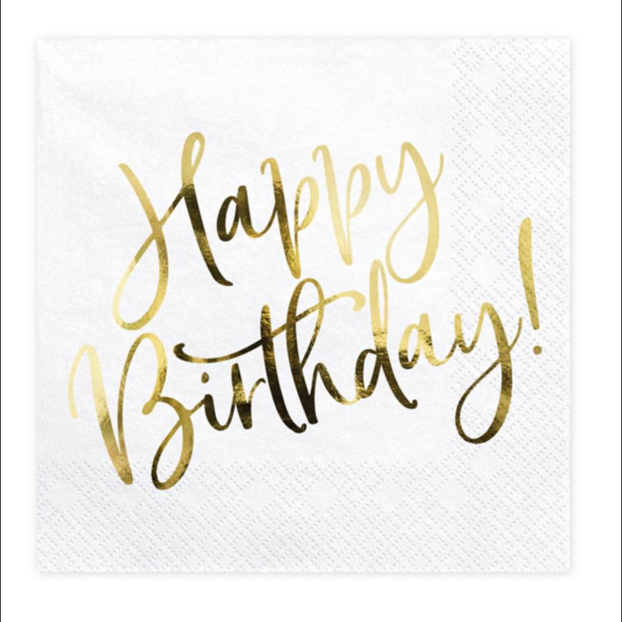 Servetten Happy Birthday - 33x33cm - 20 stuks-1