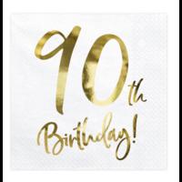 thumb-Servetten 90th Birthday - 33x33cm - 20 stuks-2