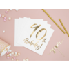 Servetten 90th Birthday - 33x33cm - 20 stuks