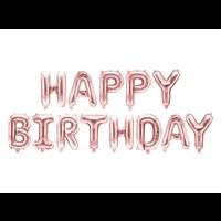 thumb-Folieballon Happy Birthday - rose goud - 340x35cm-2