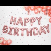 thumb-Folieballon Happy Birthday - rose goud - 340x35cm-1