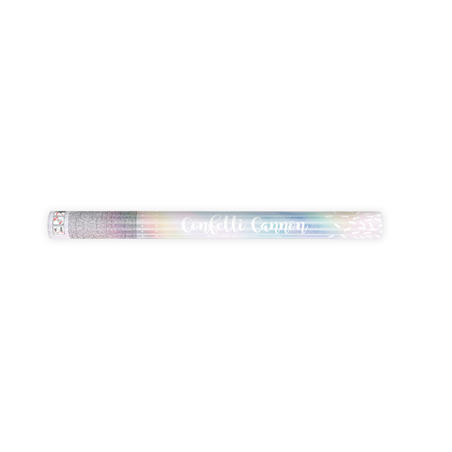 Confetti kanon - iriserend - 60cm-2
