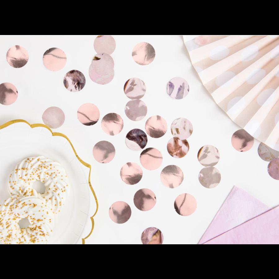 Confetti metaalfolie - Rose Gold - 15 gr - Ø25 mm-1