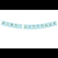 thumb-Banner Happy Birthday - lichtblauw - 15x175cm-2