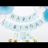 Banner Happy Birthday - lichtblauw - 15x175cm