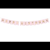 thumb-Banner Happy Birthday - lichtroze - 15x175cm-2